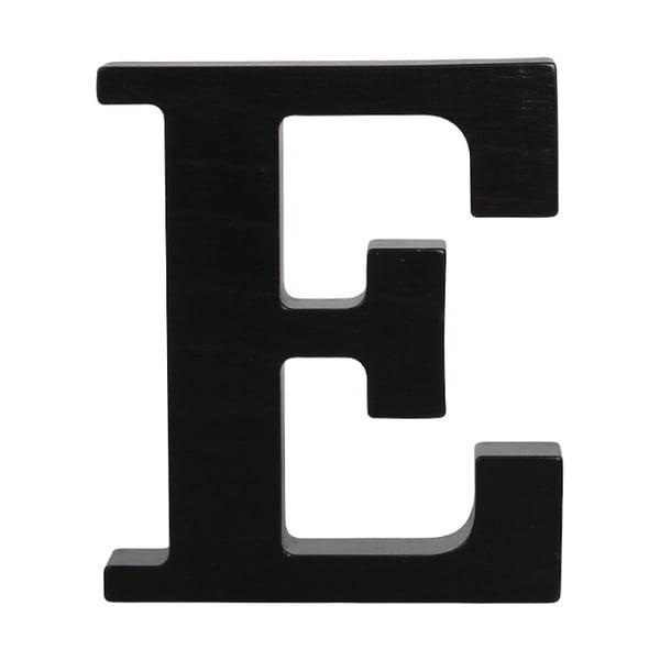 Czarna drewniana litera Typoland E