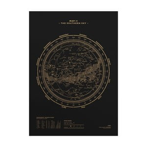 Plakat The Southern Sky Gold/Black, 50x70 cm