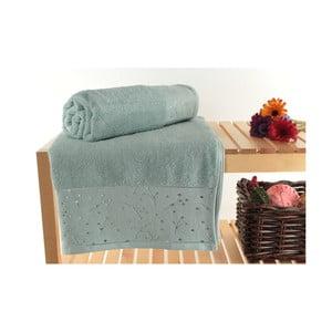 Zestaw 2 zielonych ręczników kąpielowych Tomur Green, 90x150 cm