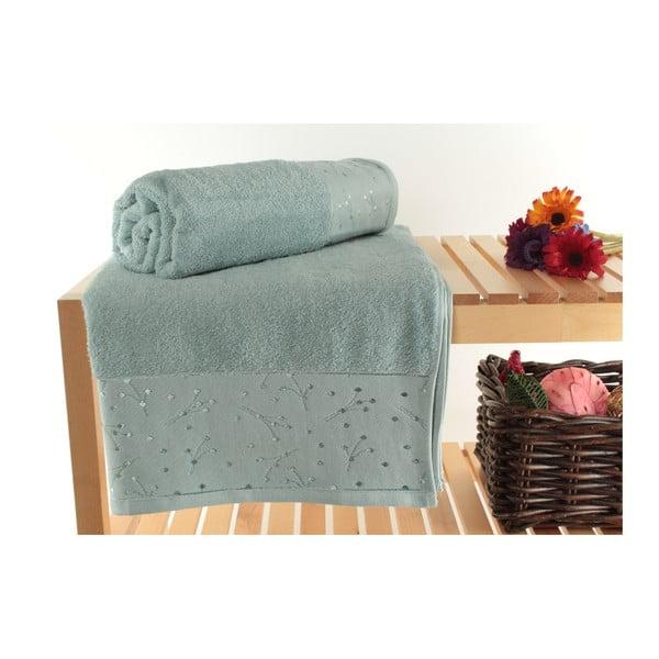 Zestaw 2 zielonych ręczników Tomur Green, 90x150 cm