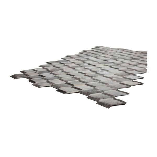 Dywan skórzany Revolution Grey, 90x144 cm