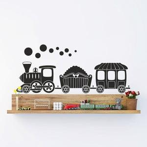 Naklejka dekoracyjna na ścianę Czarna lokomotywa