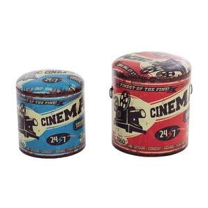 Zestaw 2 pudeł/stołków Cinema