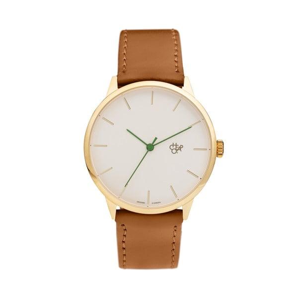 Zegarek z brązowym paskiem i złoto-białym cyferblatem CHPO Skateistan Nawroz Vegan