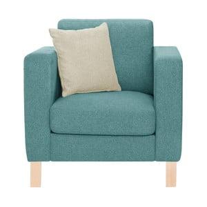 Niebieski fotel z kremową poduszką Stella Cadente Canoa