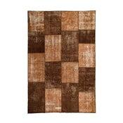 Dywan wełniany Allmode Patchwork Brown, 200x140 cm