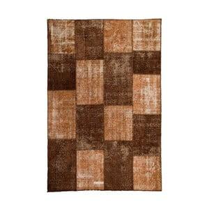 Dywan wełniany Allmode Patchwork Brown, 150x80 cm
