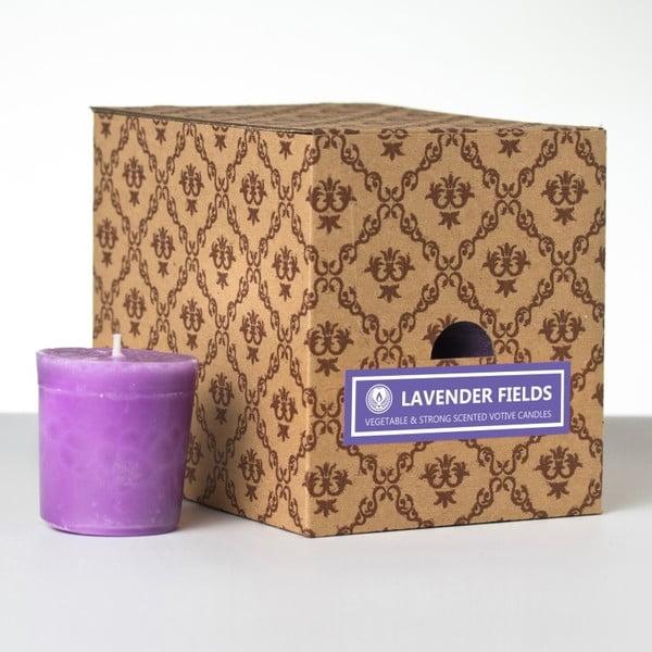 Zestaw 12 świeczek zapachowych Lavender Fields, 15 godzin palenia