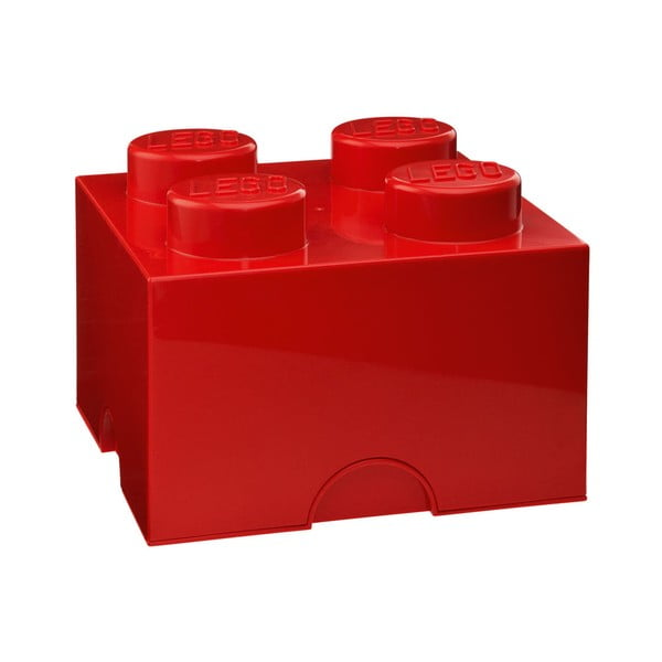 Czerwony kwadratowy pojemnik LEGO®