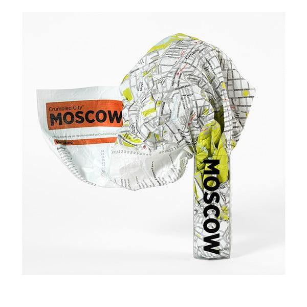 Zgnieciona mapa Moskwy