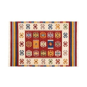 Dywan ręcznie tkany Kilim Dalush 006, 90x60 cm