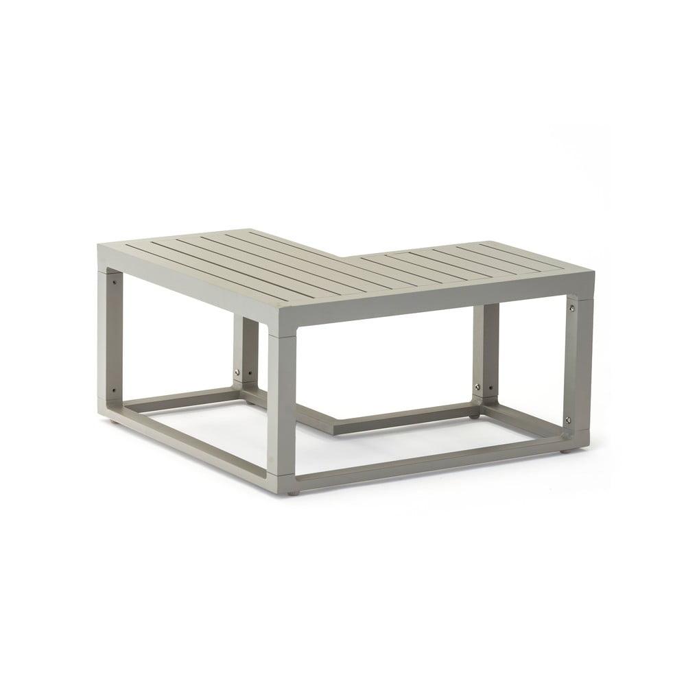 Szary aluminiowy stolik ogrodowy Ezeis Spring L