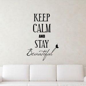 Naklejka Keep Calm and Stay Beautiful, 80x55 cm