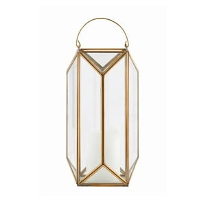 Lampion Tall Cubix Brass, 30x16 cm
