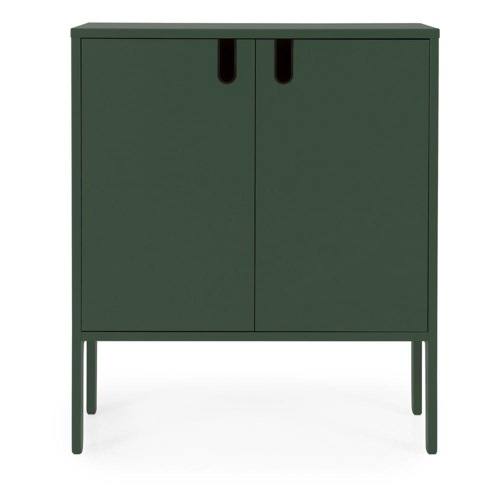 Ciemnozielona szafka Tenzo Uno, szer. 80 cm