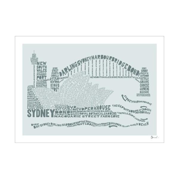 Plakat Sydney Grey&Grey, 50x70 cm