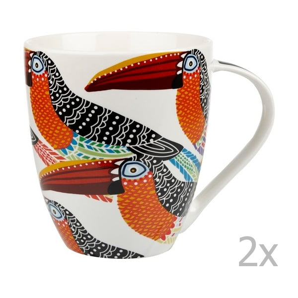 Zestaw 2 kubków Churchill China Toucans, 500 ml