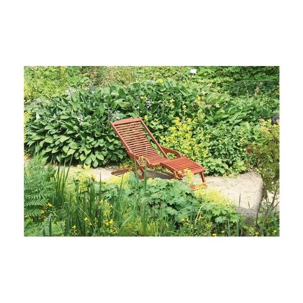 Ogrodowy leżak składany z drewna eukaliptusowego ADDU Alaska