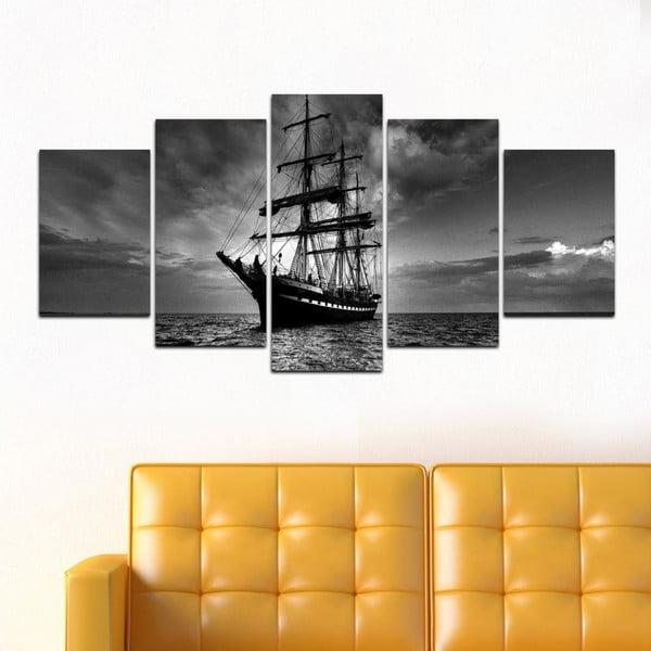 Wieloczęściowy obraz Black&White no. 34, 100x50 cm