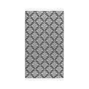 Czarny ręcznik hammam Kate Louise Serafina, 165x100cm