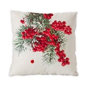 Dwustronna poduszka bawełniana Berries Christmas, 40x40cm