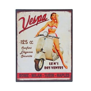 Blaszana tablica Vespa No.1, 28x22 cm