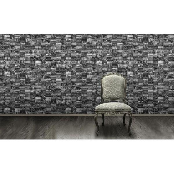 Rolka tapety Czarno-białe miasto, 53x1005 cm