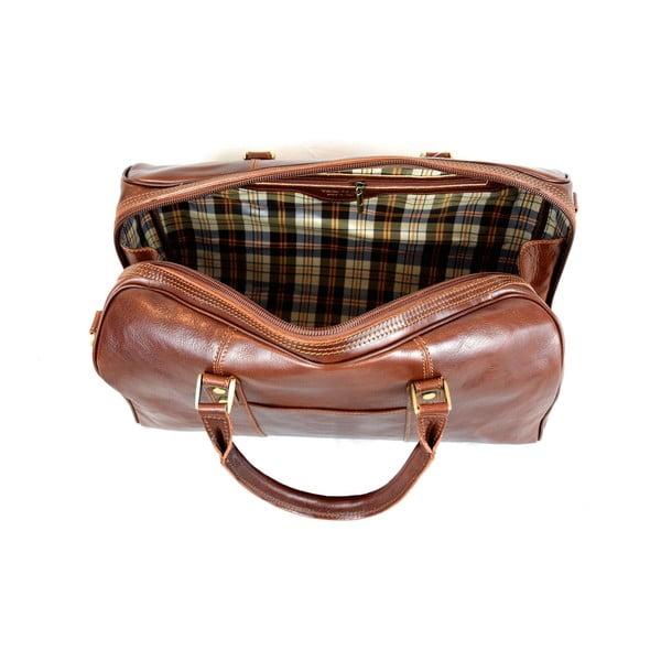 Skórzana torba Santo Croce VL965BIS Brown