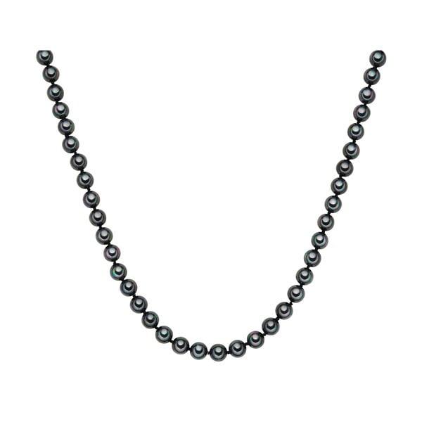 Naszyjnik z grafitowych pereł ⌀ 8 mm Perldesse Muschel, długość 90 cm