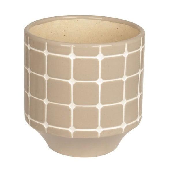 Doniczka ceramiczna Present Time Tiles Warm Grey