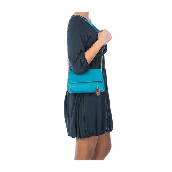 Skórzana torebka Envelope Turquoise
