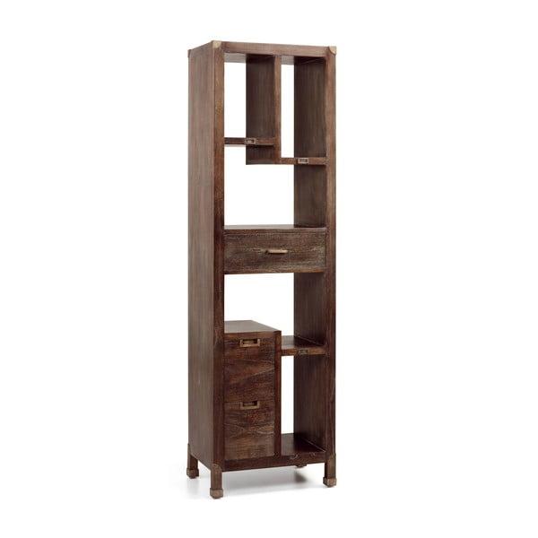 Biblioteczka z drewna mindi Moycor Industrial, 190x55 cm