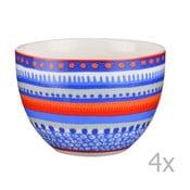Komplet 4 miseczek porcelanowych Oilily 10 cm, niebieski