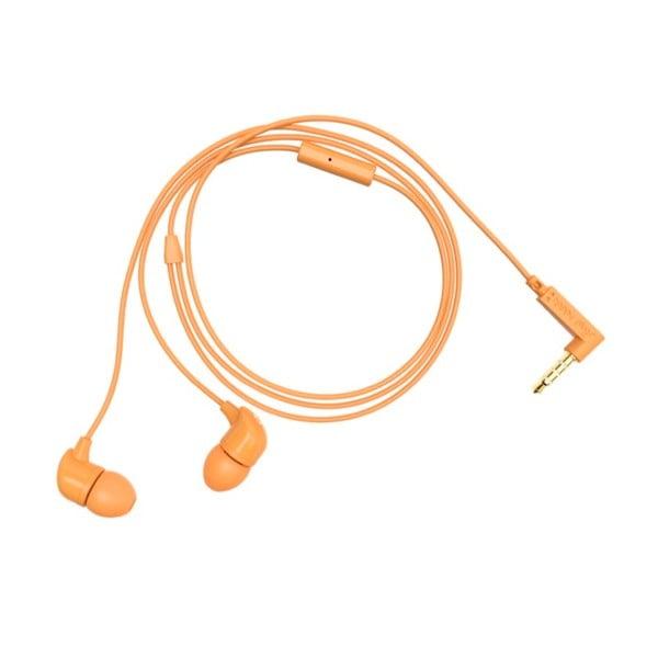 Słuchawki dokanałowe Happy Plugs, pomarańczowe