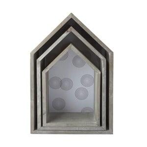 Zestaw 3 drewnianych półek House