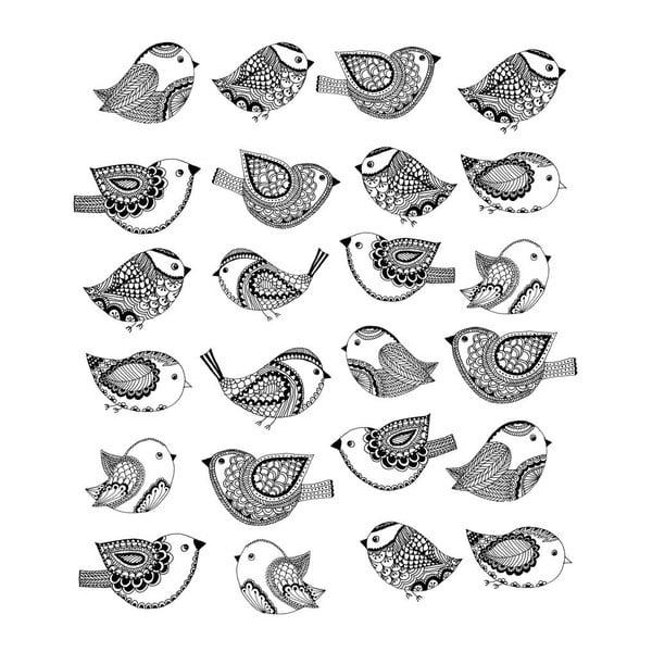 Plakat Bird Pattern, 30x40 cm