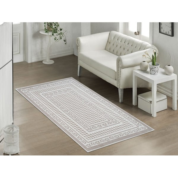 Beżowy wytrzymały dywan Vitaus Olivia, 80x150 cm