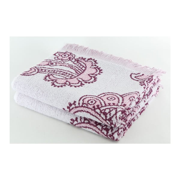 Komplet 2 ręczników Purple Floral, 70x140 cm