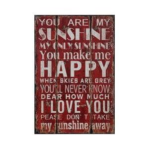 Obraz You Are My Sunshine, 25x38 cm