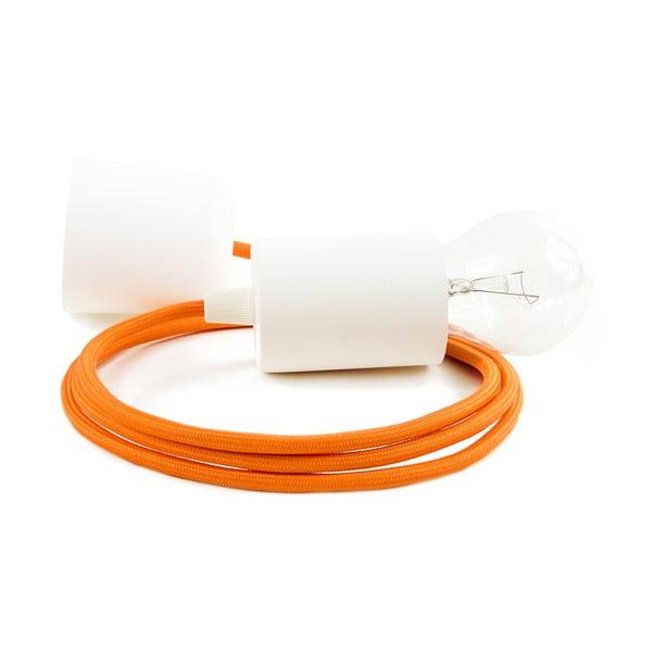 Pomarańczowo-biała lampa wisząca Bulb Attack Cero