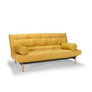Żółta sofa rozkładana Innovation Colpus