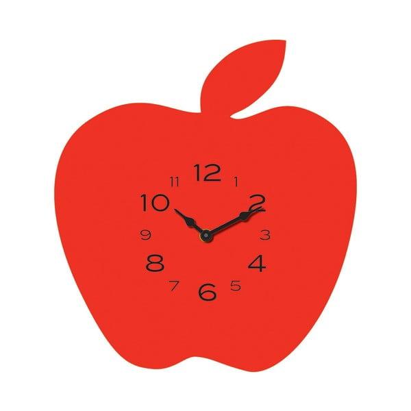 Zegar Apple Red