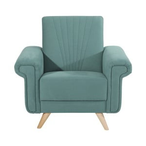 Niebieski fotel Max Winzer Jannes