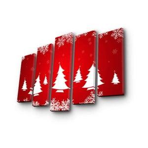 Obraz pięcioczęściowy Christmas no. 4, 105x70 cm