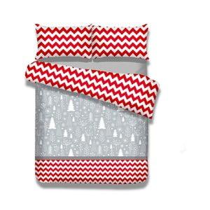 Jednoosobowa pościel z flaneli AmeliaHome Christmas Mess, 135x200 cm