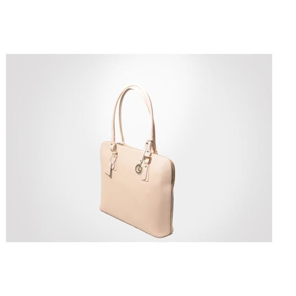 Skórzana torebka Madlene, pink