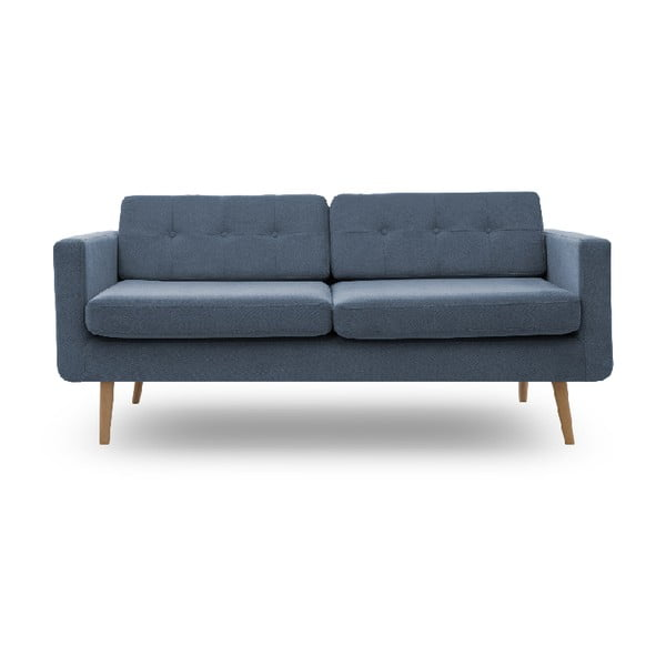 Sofa trzyosobowa VIVONITA Sondero Light Blue, naturalne nogi