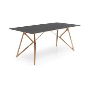 Czarny stół dębowy Gazzda, 200 cm