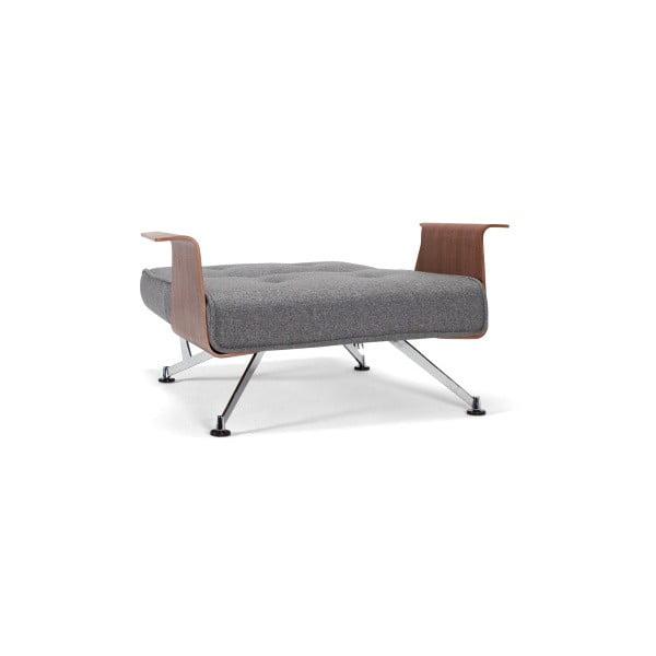 Szary rozkładany fotel Innovation Clubber Twist Charcoal