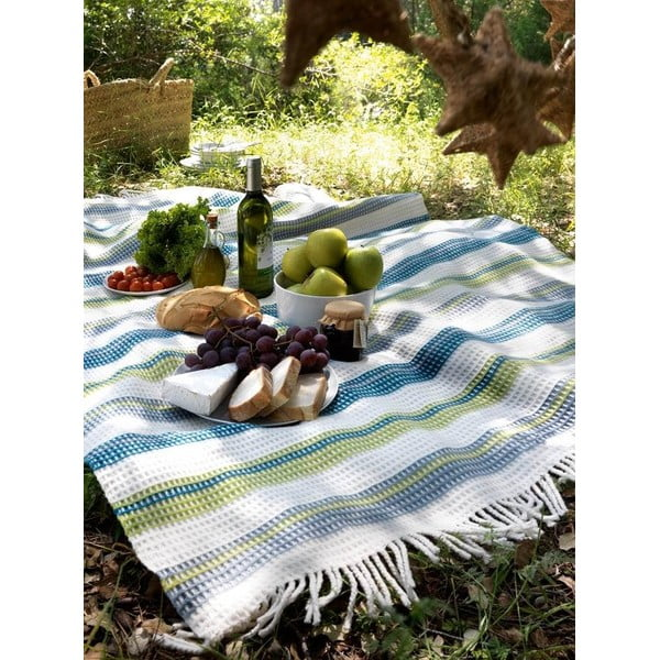 Koc Petalo Plaid Night Blue, 140x180 cm